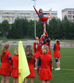 Cheerleader beim Training