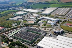 Blick auf das Industriegebiet