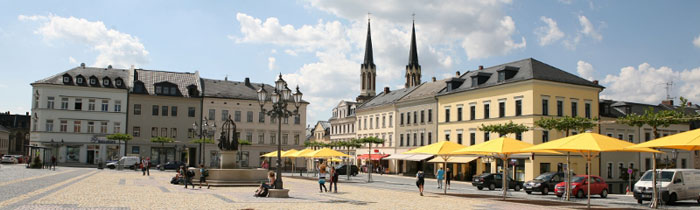 Marktplatz Oelsnitz/Vogtl.